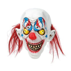 Läskig Clownmask / Clown - Mask - Halloween & Maskerad