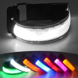 2-Pack - Armband LED / Reflex som Lyser - Reflexband Rosa