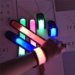 LED Armband / Reflex / Reflexband som Lyser - Flera färger Blå