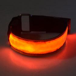 2-Pack - Armband LED / Reflex som Lyser - Reflexband - Orange Orange