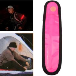 LED Reflex Säkerhetsrem - Magenta / Rosa