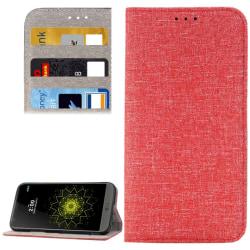 LG G5 Tyg Plånboksfodral Röd red