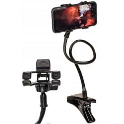 Mobilhållare Universal / Hållare med Klämma för Mobiler Svart