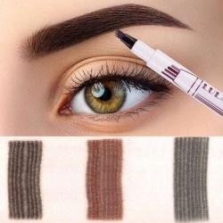 Ögonbrynspenna - Tattoo Ögonbryn - Olika Färger Mörkgrå