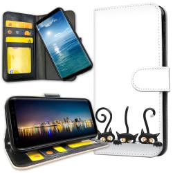 OnePlus 5T - Mobilfodral Svarta Katter