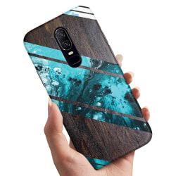 OnePlus 6 - Skal / Mobilskal Blått Konstmönster