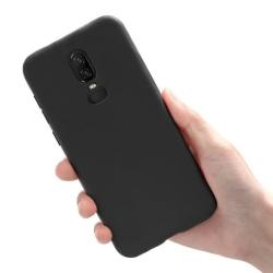 OnePlus 6T - Skal / Mobilskal Lätt & Tunt - Flera färger Svart