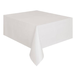 Plastduk / Bordsduk / Duk till Bord - Vit