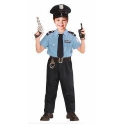 Polis Officer Barn - Maskeraddräkt - Small S