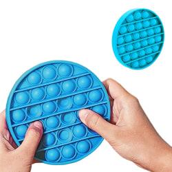Pop It Fidget Toys - Leksak / Sensory - Cirkel - Ljusblå Ljusblå