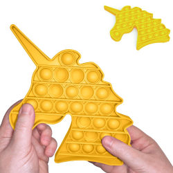 Pop It Fidget Toys - Leksak / Sensory - Enhörning - Gul Gul