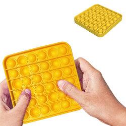 Pop It Fidget Toys - Leksak / Sensory - Fyrkant - Gul Gul