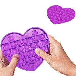 Pop It Fidget Toys - Leksak / Sensory - Hjärta - Lila Lila