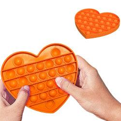 Pop It Fidget Toys - Leksak / Sensory - Hjärta - Orange Orange