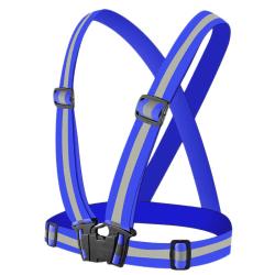 Reflexsele / Bröstsele med Reflex - Syns i Mörker - Blå Blå