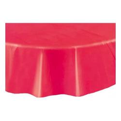 Rund Plastduk / Bordsduk / Duk till Bord - Röd Röd