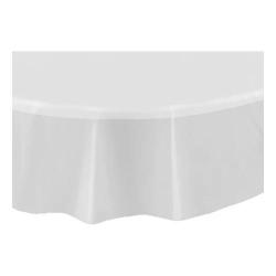 Rund Plastduk / Bordsduk / Duk till Bord - Transparent Transparent