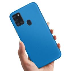 Samsung Galaxy A21s - Skal / Mobilskal Blå Blå