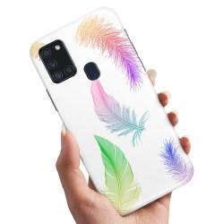Samsung Galaxy A21s - Skal / Mobilskal Fjädrar