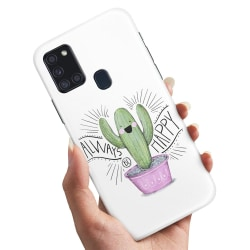 Samsung Galaxy A21s - Skal / Mobilskal Happy Cactus