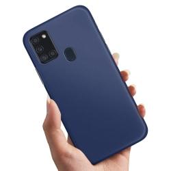 Samsung Galaxy A21s - Skal / Mobilskal Mörkblå Mörkblå