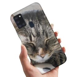 Samsung Galaxy A21s - Skal / Mobilskal Sovande Katt