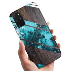 Samsung Galaxy A41 - Skal / Mobilskal Blått Konstmönster