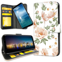Samsung Galaxy A8 (2018) - Mobilfodral Blommönster