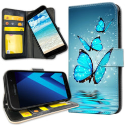 Samsung Galaxy J3 (2016) - Mobilfodral Glittrande Fjärilar