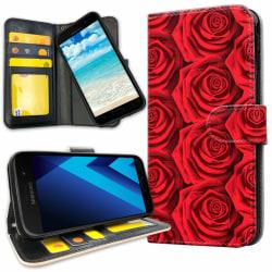 Samsung Galaxy J3 (2016) - Mobilfodral Röda Rosor red