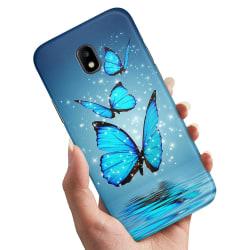 Samsung Galaxy J3 (2017) - Skal / Mobilskal Glittrande Fjärilar