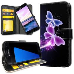 Samsung Galaxy S5 - Mobilfodral Lila Fjärilar