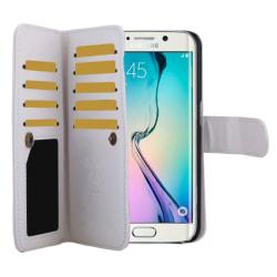 Samsung Galaxy S6 Edge Multikorthållare Läder Vit white