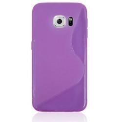 Samsung Galaxy S6 Edge - TPU Frostad Skal / Mobilskal Lila purple