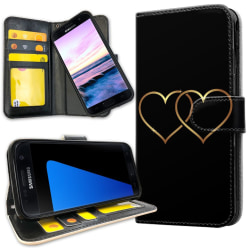 Samsung Galaxy S7 Edge - Mobilfodral Double Hearts