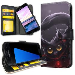 Samsung Galaxy S7 Edge - Mobilfodral Svart Katt Svart