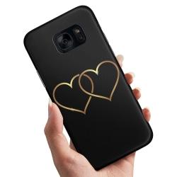 Samsung Galaxy S7 Edge - Skal / Mobilskal Double Hearts