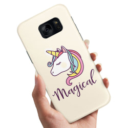 Samsung Galaxy S7 Edge - Skal / Mobilskal Magisk Ponny / Unicorn