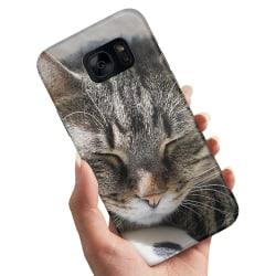Samsung Galaxy S7 Edge - Skal / Mobilskal Sovande Katt