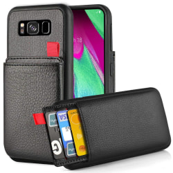 Samsung Galaxy S8 - Skal / Mobilskal Dolt Kortfack/Korthållare Svart