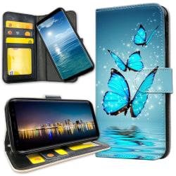 Samsung Galaxy S9 - Mobilfodral Glittrande Fjärilar