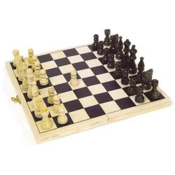 Schackspel i Trä / Schack - Brädspel / Sällskapsspel - 21 cm