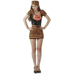 Sexig Fånge Orange Maskeraddräkt - Halloween & Maskerad orange