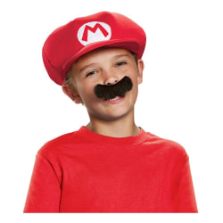 Super Mario Hatt & Mustach för Barn - Halloween & Maskerad Red