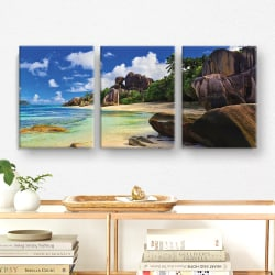 Tavla / Canvastavla Set - Strand - 90x42 cm - Canvas