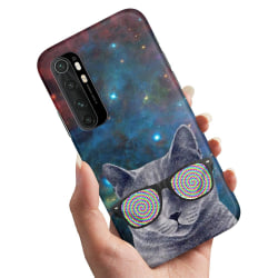 Xiaomi Mi Note 10 Lite - Skal / Mobilskal Cat Space