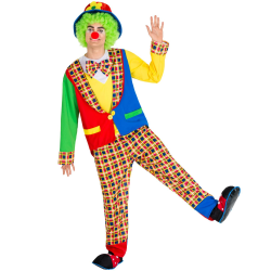 Clowndräkt Alfredo SunnyYellow XL
