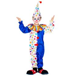 Clowndräkt för barn Clownen Jux Blue 140