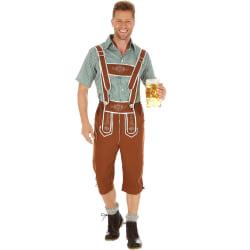 Folkdräkt för herrar Österrike Brown XXL