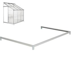 Fundament till väggväxthus grå